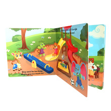 customized children cardboard book printing, board book printing on demand