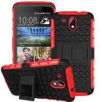 High Quatity Hybrid Stand Shockproof Case For HTC Desire 526G+