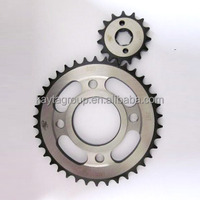 China Manufacturer Motorcycle parts Sprocket Cg125