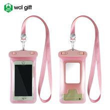 Universal waterproof mobile phone case of phone accessory with strap for iPhone Samsung HTC