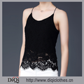 Women Newest Hollow-out Sleeveless Blouse Spaghetti Lace Top