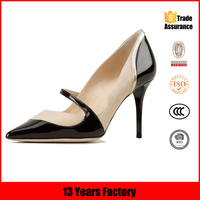 2015 mature italian fashion sexy stiletto high heels genuine leather design women dress shoes