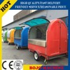 Hot sale best quality motorcycle food cart fiber glass food cart crepe cart
