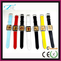 2014 Square shape watch unique design for man and women cute style