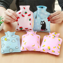 Warm Water Bottle Small Portable Hand Warmer Water Injection Storage Bag Tools
