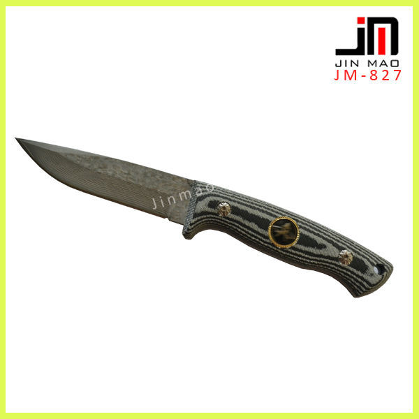 Best Quality Damascus Steel Micarta Handle Knife