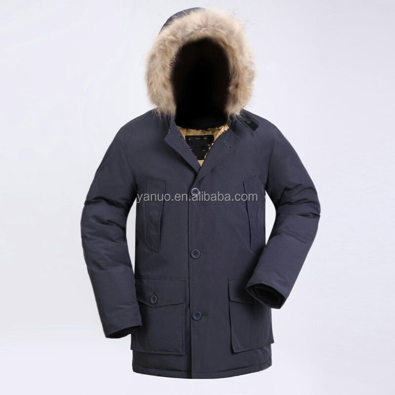 fur hooded coat men goose feather jacket, men parka down coat menswear 2015