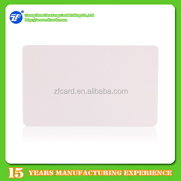 PVC plastic best factory price atmel 24c256 smart card with qr code