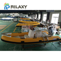 China manufacturer made fishing boat, new 17ft RIB rigid hypalon inflatable sport fishing boats for sale with motor