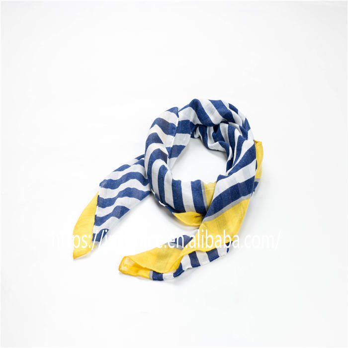 Women's Classic Stripes Wrap Lightweight Navy style Scarf Summer Evening Fashion Shawls