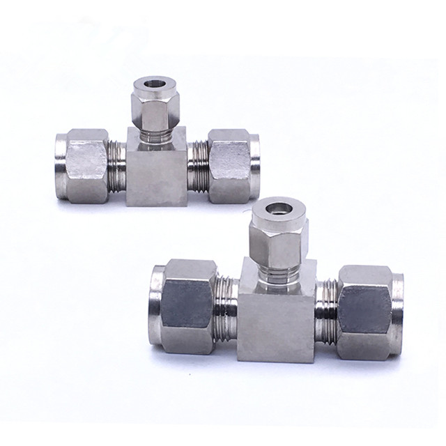 three way connector <strong>fitting</strong> Tube <strong>Fitting</strong> For 316 SS Nut and Ferrule Set