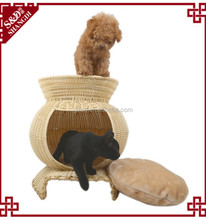 For Sale China Pet Furniture Bed Wicker Waterproof Durable Plastic Rattan Dog House