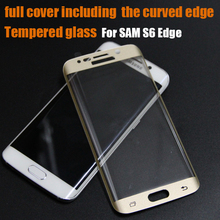 Top Quality Screen Protectors Perfect For Samsung Galaxy S6 Edge Full Cover Tempered Glass Screen Protectors