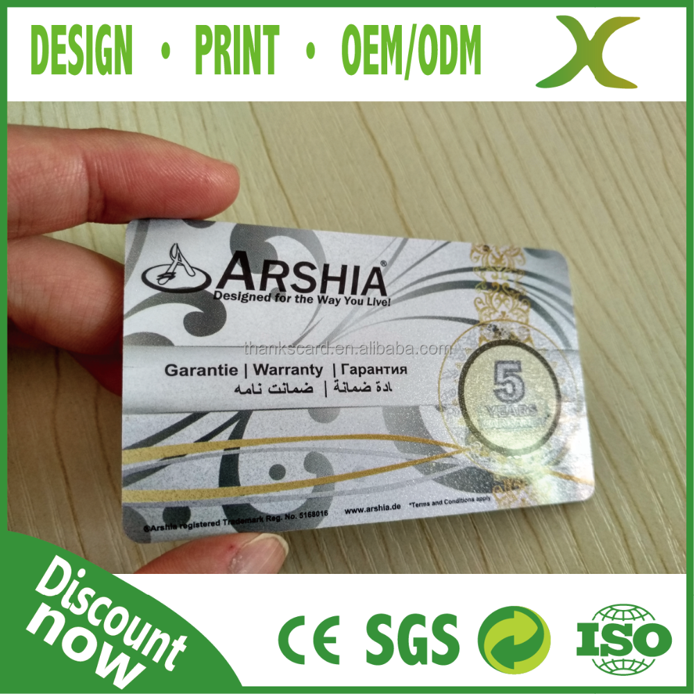 Free Design~~~!!! Credit Card Size Plastic coupon code card printing/ pvc id card/ CR80 loyalty card