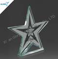 Wholesale Shield Glass Star Trophy for Souvenir