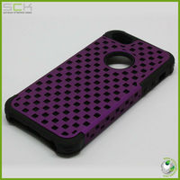 Gridding silicone rubber soft phone case for iphone 5 cover