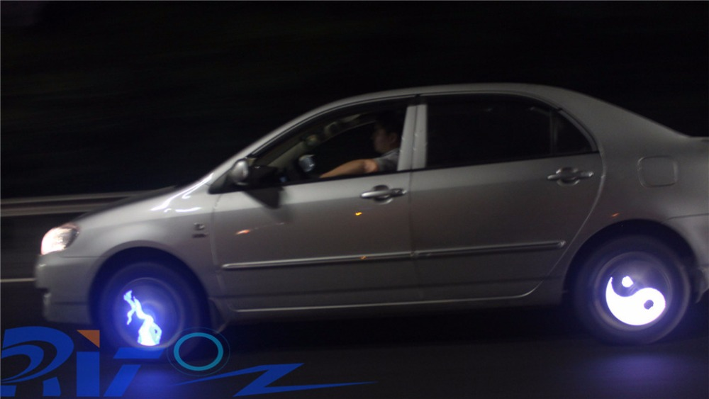 Q1 Colorful Programmable Wheel Lights For Car Fashion And Beautiful Car Programmable Wheel lights