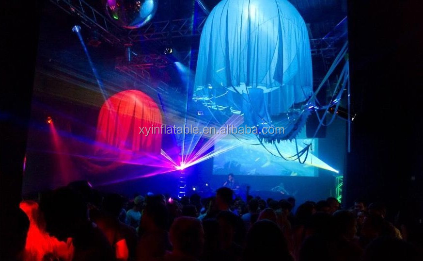 Jellyfish baloon led advertising glow in the dark party