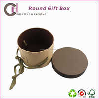 Craft custom paper made packing gift box with round shape