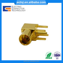 MMCX right angle female jack male plug connector pcb