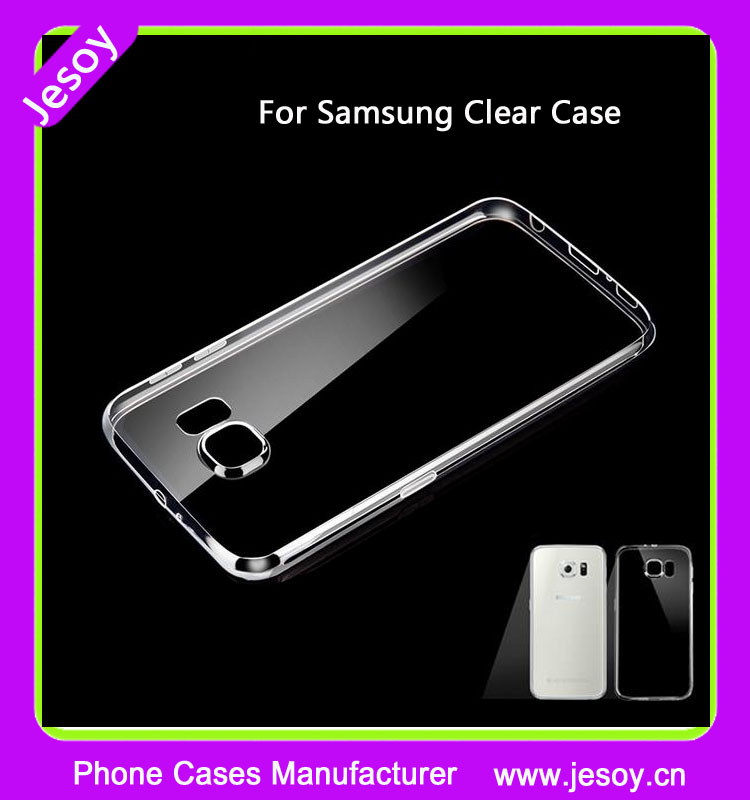 JESOY Hot Ultra Thin For Samsung Galaxy S6 S7 edge Blank TPU Clear Case