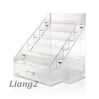 popular acrylic makeup organizer clear cube cosmetic