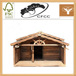 new design comfortable wooden dog crate