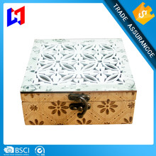 Business gifts merchandising trendy antique wood jewelry box packaging box
