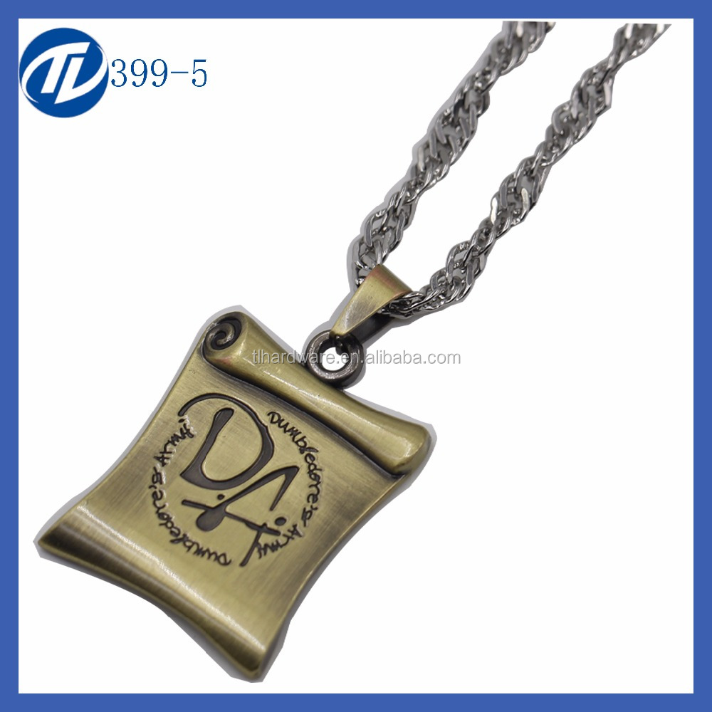 The Story Book Letter Pendant Vintage Necklace Cheap Wholesale Simple Style Women Chain Necklace