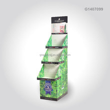 Custom Retail Store Cardboard Tiered Display Stand, POP POS Corrugated Funko POP Up Floor Standing Display Unit
