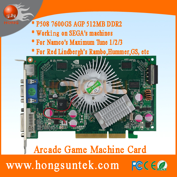 P508 7600GS Arcade Game Video Card for Maximum Tune, Rambo, Hummer, GHOST SQUAD, Harley Davidson and so on