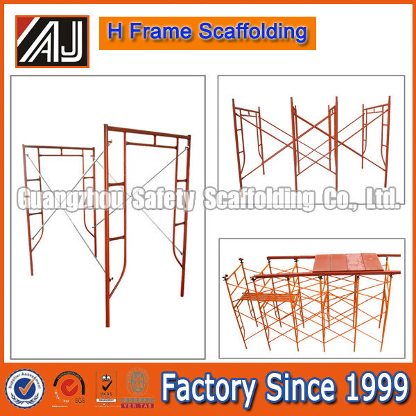 Guangzhou Factory Price High Quality H Frame Steel Scaffolding