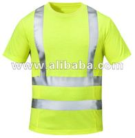 Hi Vis workwear T-Shirts/ reflective tape t shirts