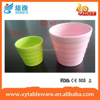 China supply pink color plastic flower pots/utensil bin