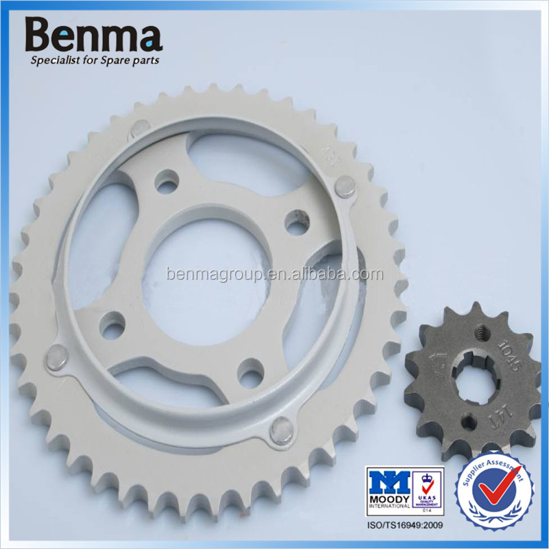 Brazil Market 428-43T/16T TITAN150 Motorcycle Sprockets A3 1045 Steel Transmission Kits