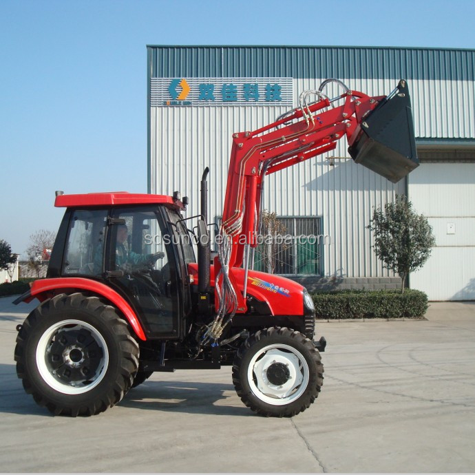 4wd 40hp tractor with front end loader and backhoe