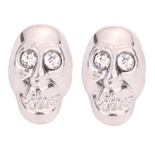 Fashion Jewelry Invisible Clip On Earrings Magnet Skull Earrings For Men