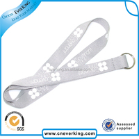 polyester retractable detachable lanyard with custom logo with pvc pouch