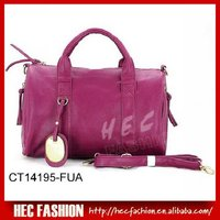 Fashion handbag with contrast painting color,Navy Medium Shoulder Barrel,CT14195