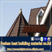 Building Material / Stone Coated Metal Roof Tile/ Roman Design