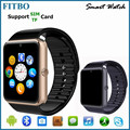 Bluetooth touch screen gsm smart phone watch with Pedometer GT08 for huawei mate 8