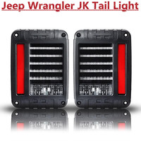 LED Reverse Brake Tail Lights With European / USA Standard Plugs For 07-15 Jee-p JK Wangler Car Light Replacement tail LIght