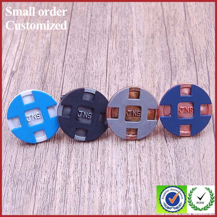 Custom jeans rivets buttons metal tack machinery of buttons for jeans