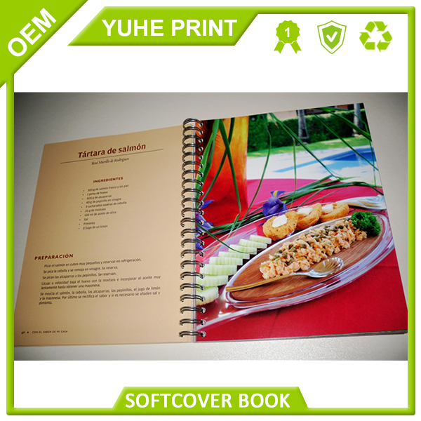 China display brochure with high quality and direct factory price two staples soft cover book
