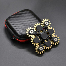 Adult gift gear style fidget spinner R188 bearing brass 9 teeth linkage hand spinner toys
