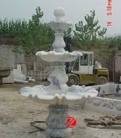 Round Natural White Marble Oriental Garden Fountains