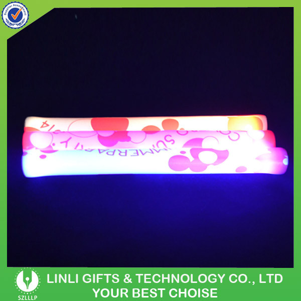 Concert Festival Heat Shrinking Film Logo LED Glow Wand For Party/Concert/Bat/Club