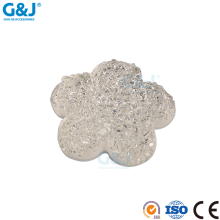 guojie brand wholesale fashionable beauty flower shape clear resin stone