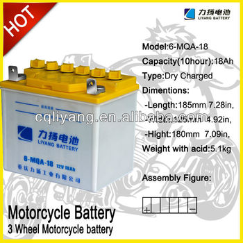 Rechargeable auto batteries for motorcycle sidecar