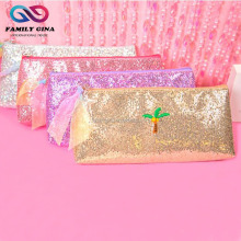 Wholesale Personalized Women Shell Glitter Embroidered Cosmetic Bag